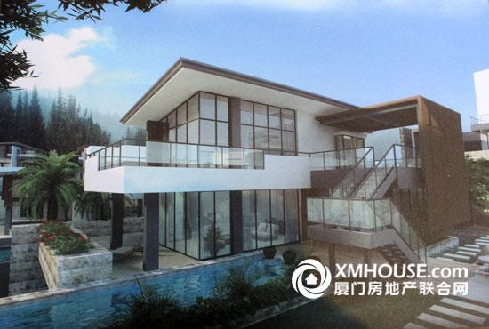 农村屋顶别墅泳池图片