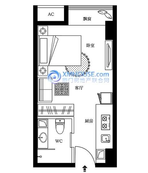 最经典的单身公寓空间设计