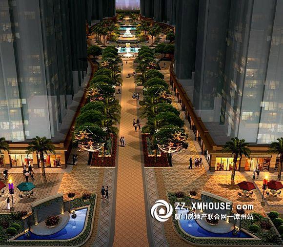 近400米景观商业大道效果图