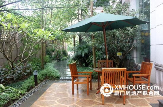 庭院,简欧式建筑风格的奢适住宅小区