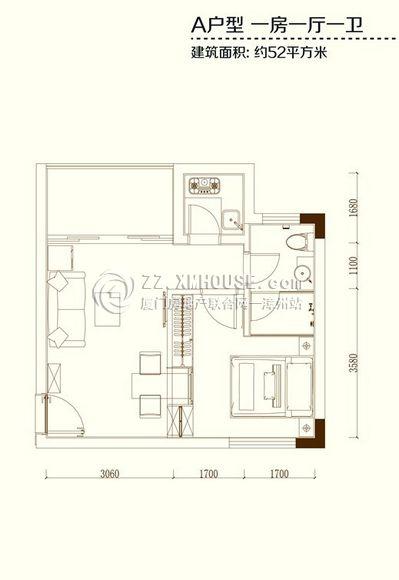 [东山]兆辉海印:52㎡观海公寓在售 约5000元/平