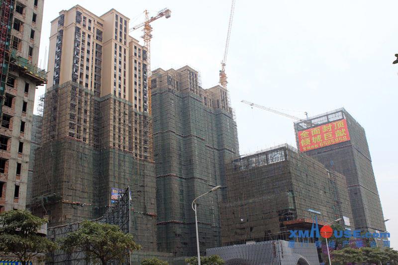 万星嘉和时代:高层封顶落架 8#住宅在售