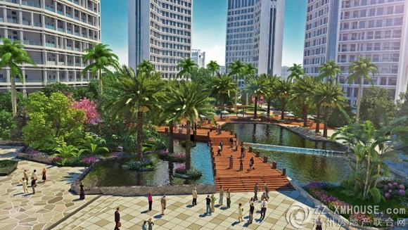 项目园林景观效果图-汇金置地广场 有事实依据的九大升级配套来了
