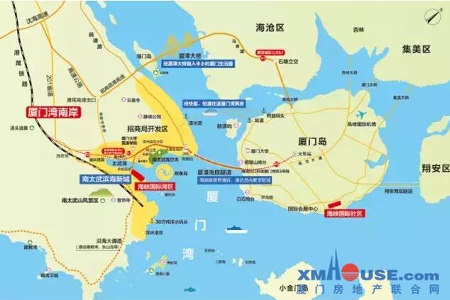 通过厦漳城际轨道r3线即可速达厦门岛内最繁华的中山路商圈以及最美的