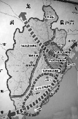 规划区的空间结构为漳州市委